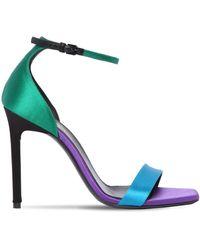 Saint Laurent 105mm Amber Satin Sandals - Green