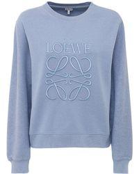 Loewe Свитшот Из Хлопкового Джерси С Вышивкой - Синий