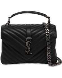 Saint Laurent - Medium College Monogram Leather Bag - Lyst