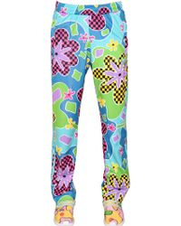 26b23a61b570 Jeremy Scott for adidas - Floral Printed Jogging Pants - Lyst