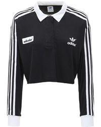 adidas Originals Adidas Originals Adidas Originals Adicolour 70s 3-stripes L/s T - Black