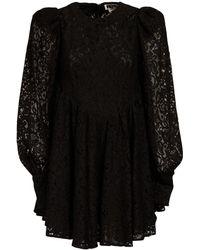ROTATE BIRGER CHRISTENSEN Alison コットンブレンドレースドレス - ブラック