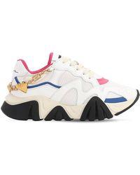 Versace Squalo Logo Jewel Sneakers - White