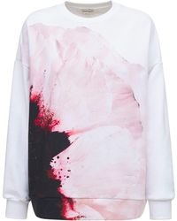 Alexander McQueen Anemone コットンスウェットシャツ - ピンク