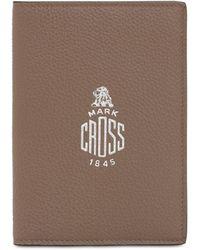 Mark Cross Passhülle Aus Narbleder - Braun