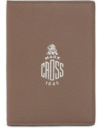 Mark Cross Porta Passaporto In Pelle Martellata - Marrone