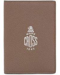 Mark Cross Grained Leather Passport Holder - Brown