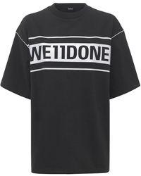 we11done ジャージーtシャツ - ブラック