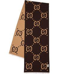 Gucci Платок Из Жаккарда - Коричневый