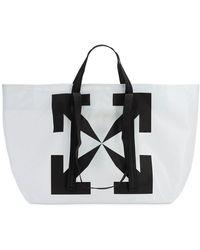 Off-White c/o Virgil Abloh Printed Arrows Pvc Tote Bag - Black