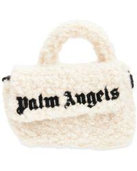 Palm Angels Sherpa トップハンドルバッグ - ホワイト
