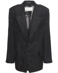 Maison Margiela シルクツイルジャケット - ブラック