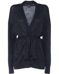 Max Mara Mohair Blend Knit Cardigan - Blue