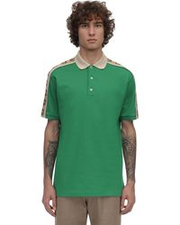 Gucci - Stretch Cotton Piquet Polo Shirt - Lyst