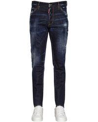 DSquared² Jeans De Denim De Algodón 16.5Cm - Azul
