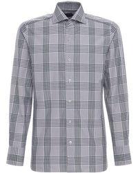 Tom Ford Baumwolloxfordhemd Mit Karos - Grau