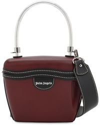 Palm Angels Leather Top Handle Bag - Multicolour