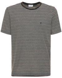 Saint Laurent タイダイコットンtシャツ - ブラック