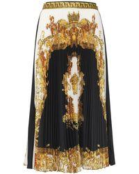 Versace Юбка Baroque Из Шелковой Саржи - Черный