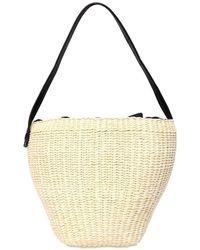 Sensi Studio Medium Straw Shoulder Bag - Natural