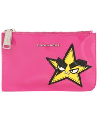 DSquared² - Small Hand Patch Patent Leather Pouch - Lyst