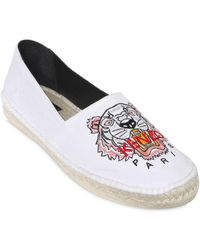 KENZO - Tiger Embroidered Espadrilles - Lyst
