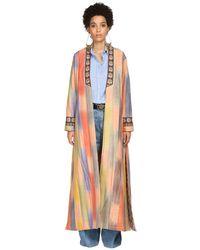 Etro Пальто Из Хлопка Микадо - Многоцветный
