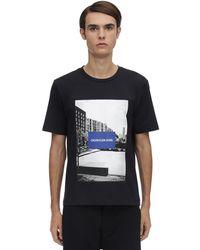 Calvin Klein T-shirt Aus Baumwolle Mit Druck - Schwarz