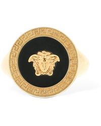 Versace Resin Medusa Ring - Metallic