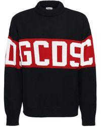 Gcds ウールブレンドニットセーター - ブラック