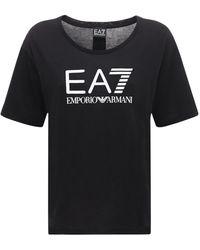 EA7 コットンtシャツ - ブラック
