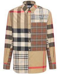 Burberry Terence Patchwork コットンシャツ - マルチカラー