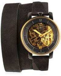 FOB PARIS - Rehab 360 Gold Wrap Around Watch - Lyst