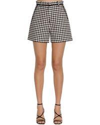 MSGM Houndstooth Pattern Shorts - Black