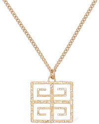 Givenchy 4g Crystal Long Chain Necklace - Metallic
