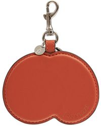 JW Anderson Peach レザーキーリング - オレンジ