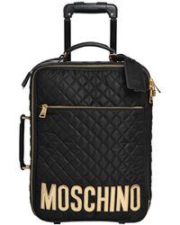Moschino Trolley Medio In Nylon Trapuntato - Black
