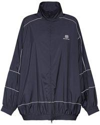 Balenciaga Куртка Из Поплин С Логотипом - Синий