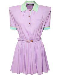 Versace Платье Из Стрейч-вискозы - Пурпурный
