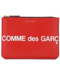Comme des Garçons - Huge Logo レザーポーチ - Lyst