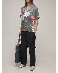 Soulland Orson Floral サテンシャツ - マルチカラー
