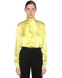 Balenciaga Атласная Блузка - Желтый