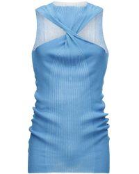 Bottega Veneta Strickripppullover Aus Baumwolle Und Seide - Blau