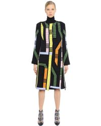 Peter Pilotto - Geometric Ribbed Merino Wool Blend Coat - Lyst
