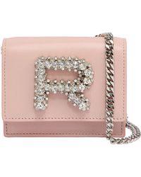 Rochas - Leather Bag W/ Crystal Logo - Lyst