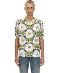Gucci Camicia Bowling In Seta - Verde