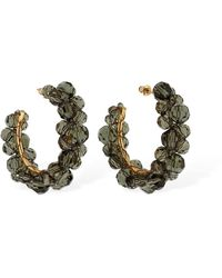 Simone Rocha Medium Wiggle Crystal Hoop Earrings - Grey