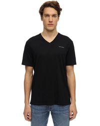 Armani Exchange コットンtシャツ - ブラック