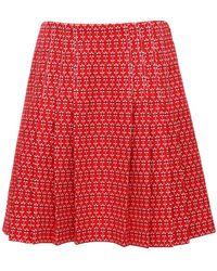 Gucci Жаккардовая Плиссированная Мини-юбка - Красный