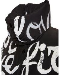 Dolce & Gabbana Нейлоновая Куртка С Принтом - Черный